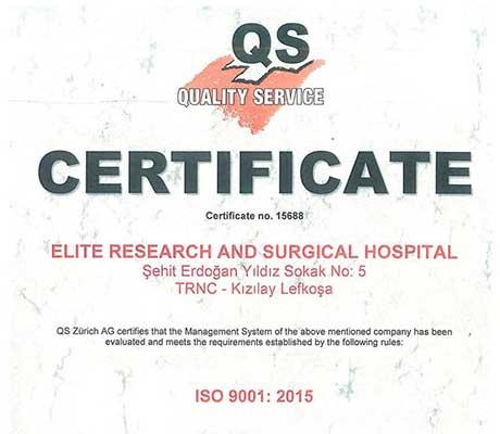 Ellite Hospital ISO 9001